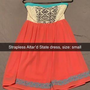Altar'd State Strapless Dress